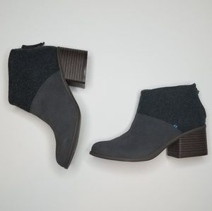 NEW | TOMS | Women's Gray Wool Ankle Boots